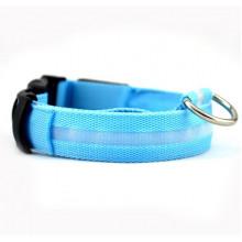 Ошейник декоративный светодиодный L48-60 см 2,5 см голубой FOX LED-L-BLUE