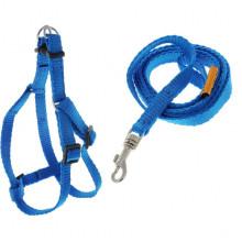 Шлея Dog Extreme нейлоновая с регулированным поводком для собак ширина 10мм А 28-40см синяя COLLAR - ОШЕЙНИКИ, АМУНИЦИЯ