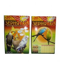 Корм для попугаев волн.Зернятко 3 попугая 600г. УП 12  \  ПР-45698