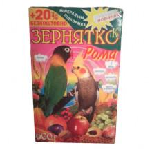 Корм для попугаев волн.Зернятко Рома 600г. УП 12  \  ЗР032