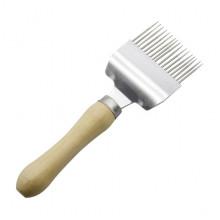 Вилка нержавеющая прямая с деревянной ручкой