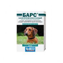 Барс от 10 до 20 кг капли от блох и клещей для собак АВЗ - ИНСЕКТОАКАРИЦИДНЫЕ КАПЛИ