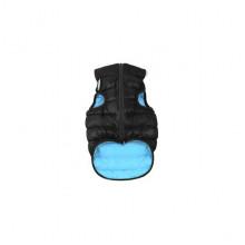 Курточка для собак маленьких пород двусторонняя черно-голубая AiryVest XS 30 Collar