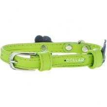 Ошейник Collar Glamour с апликацией 9 мм 18-21 см зелёный 34995