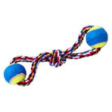 Игрушка для собак канат грейфер Восьмерка с 2-мя мячами 35 см Д-6,5 см 250 г