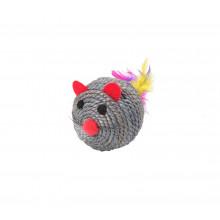 Когтеточка-шарик Мышка с пером 6,5 см1 2 240 FOX S2011