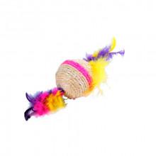 Когтеточка-шарик с пером малый 5,5 см*432 FOX S2031