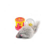 Набор игрушек для кошки мышь, барабанчик, шар 144XW0087
