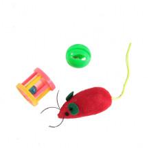 Набор игрушек для кошки мышь, шар погремушка, барабанчик 144 XW0316