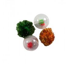 Набор игрушек для кошки 2  пластиковых шара, 2 шуршащие игрушки 144XW0325