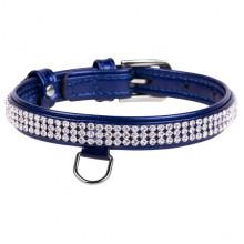 Ошейник Collar brilliance полотно страз 9 мм 18-21см синий 33062 - ОШЕЙНИКИ, АМУНИЦИЯ