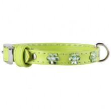 Ошейник Collar Glamour с клеевыми стразами 9 мм 18-21 см зелёный 32005 - ОШЕЙНИКИ, АМУНИЦИЯ