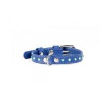 Ошейник Collar Glamour с клеевыми стразами 9 мм 18-21 см синий 32502 - ОШЕЙНИКИ, АМУНИЦИЯ