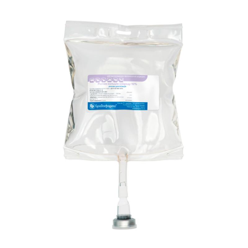 Кальция хлорид 10%  250 мл мешки Бровафарма
