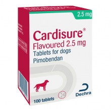 Cardisure (Кардишур) 2,5 мг при сердечной недостаточности собак №10 Dechra