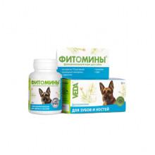 Фитомины № 100 для зубов и костей для собак Веда