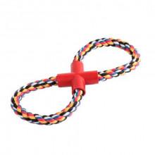 Игрушка для собак грейфер канат  цветной восьмерка 11/100   XJ0065